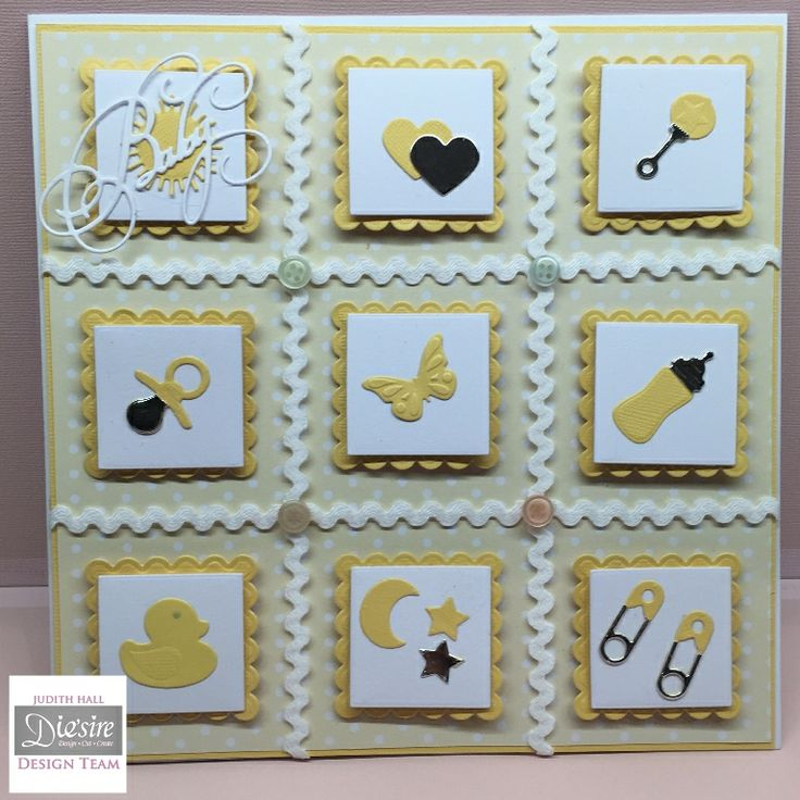square card using Sara's Signature Little Angels collection by Judith Hall