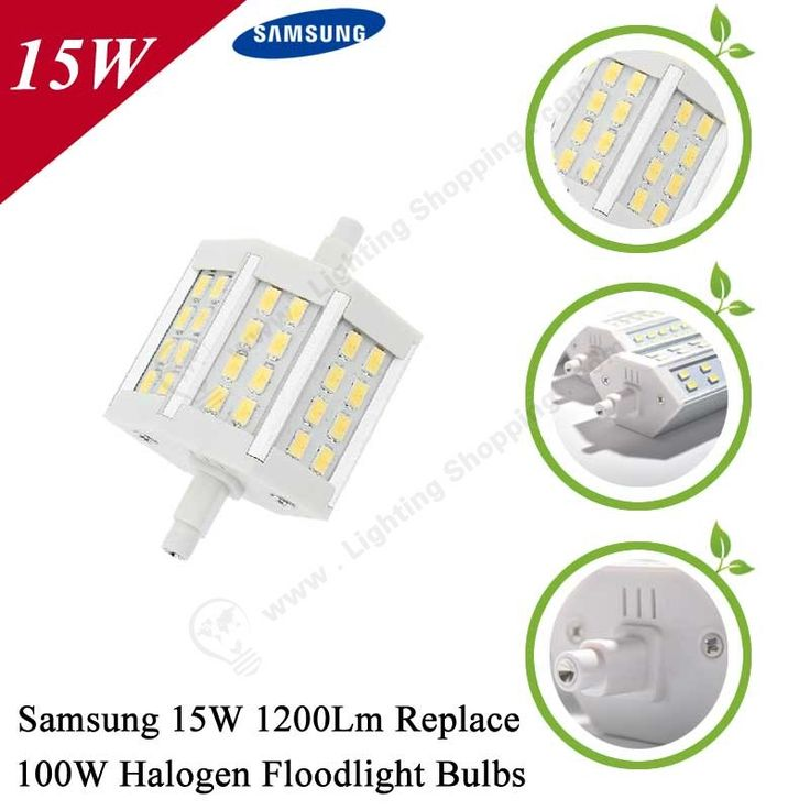 #Samsung SMD5730 #LED #Floodlight #Bulb, R7S, Replace Traditional Halogen Floodlight Bulbs,  Click to learn more:http://www.lightingshopping.com/best-led-floodlight-bulb-r7s-samsung-smd5730-110v-240v.html