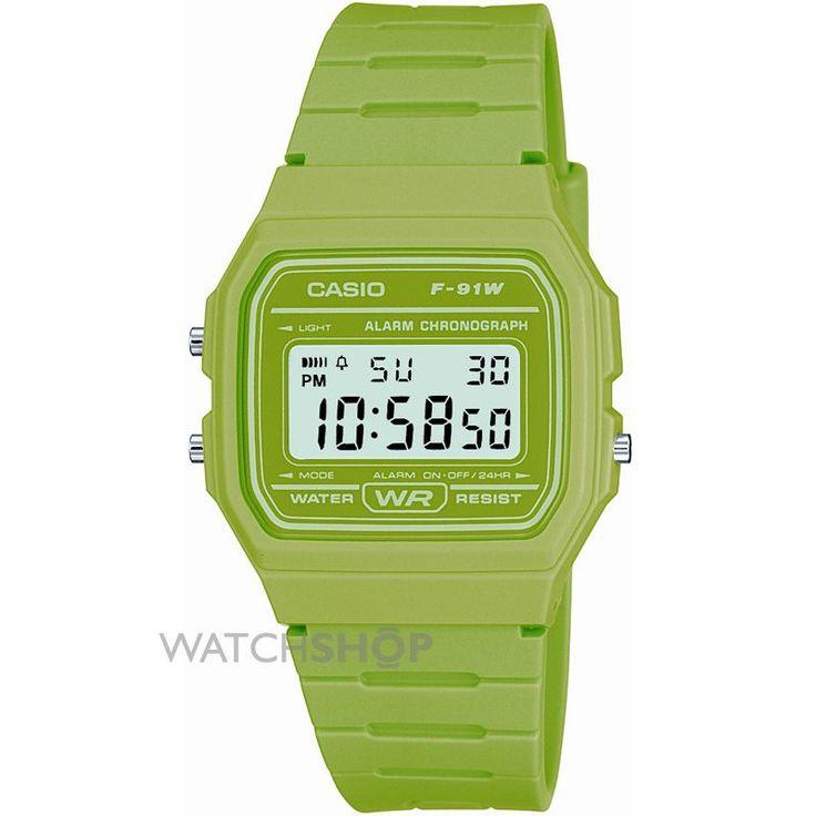Unisex Casio Classic Alarm Chronograph Watch F-91WC-3AEF