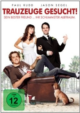 Trauzeuge gesucht  2009 USA      Jetzt bei Amazon Kaufen Jetzt als Blu-ray oder DVD bei Amazon.de bestellen  IMDB Rating 7,1 (103.347)  Darsteller: Paul Rudd, Rashida Jones, Sarah Burns, Greg Levine, Jaime Pressly,  Genre: Comedy, Romance,  FSK: 12