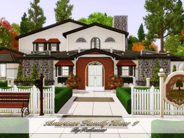 16 best images about the sims 3 house blueprints on pinterest for American family homes