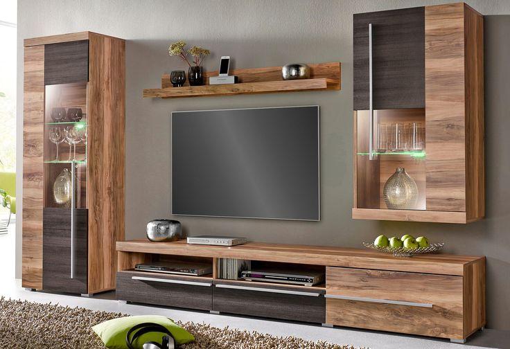 Trendmanufaktur Wohnwand Set 4 Tlg Fsc Zertifizierter Holzwerkstoff Online Kaufen Otto In 2020 Wohnen Wohnzimmerschranke Wohnwand