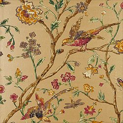 """Thibaut: Aviary –Wallpaper Collection Great Estates Colorway Metallic Gold SKU T5835  Vertical Repeat –36"""""""