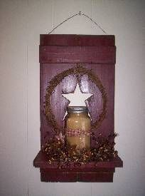 Shutter Wall Candle Holder