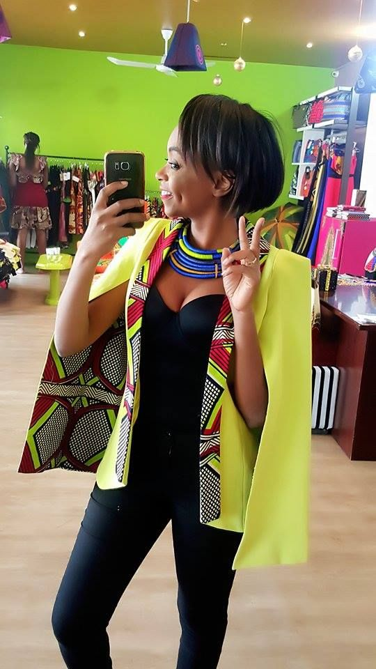 Jacket SAPÉ COMME JAMAIS jullius green Check Out Latest Ankara Styles and Dresses http://www.dezangozone.com/
