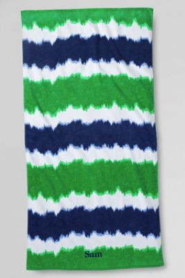 Kids' Tie Dye Beach Towel from Lands' End