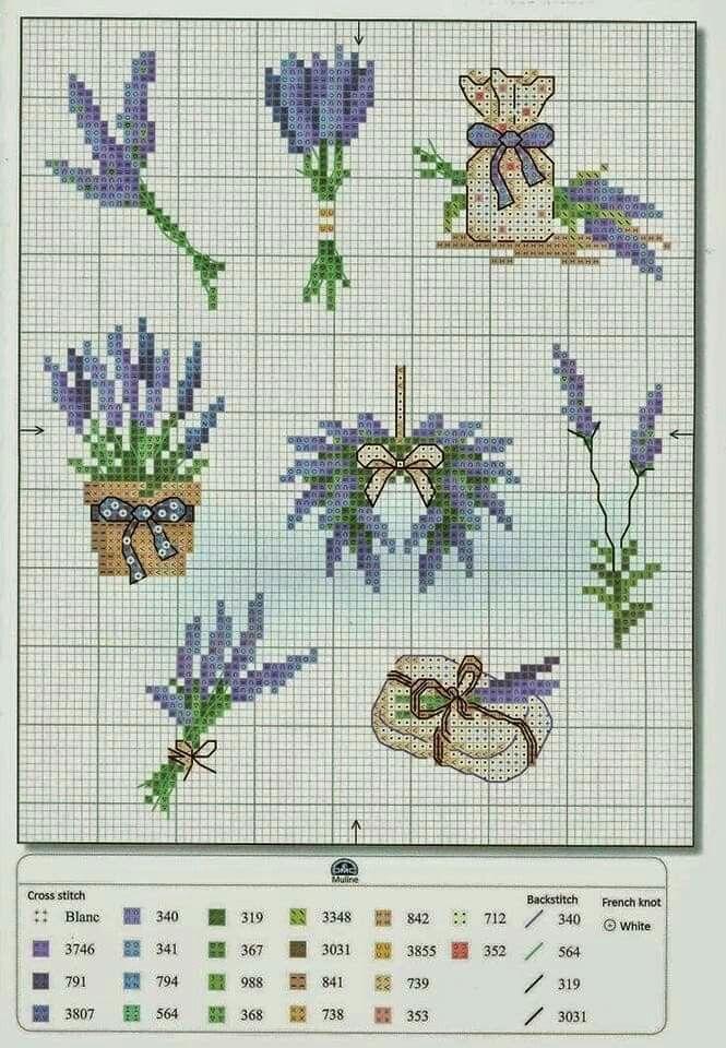 #crossstitch #kanaviçe #lavanta #mor #lavender #purple #lovely