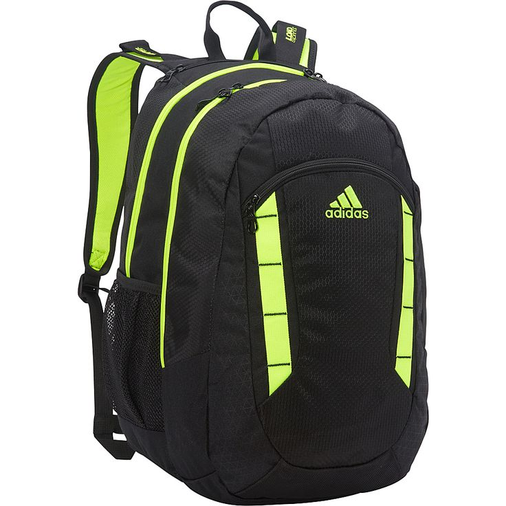 Image of adidas Excel Backpack Black/Solar Yellow - adidas Laptop Backpacks