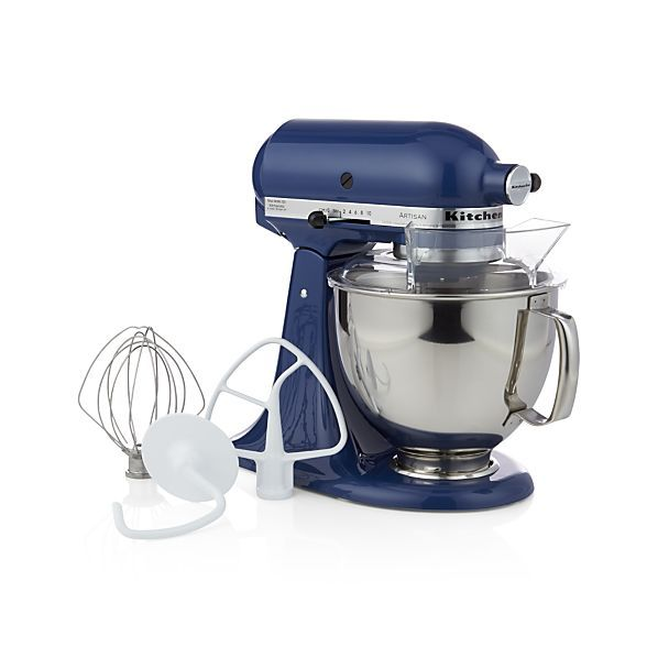 This heavy-duty mixer in cool blue willow hasKitchenAid power and a planetary mixing action that spirals the beater to 67 touch points within the bowl for quick and complete mixing, even with heavy ingredients. Powerful motor handles heavy mixtures while the rugged transmission ensures constant power as the load increases. Ten-speed control provides settings from very slow to high.