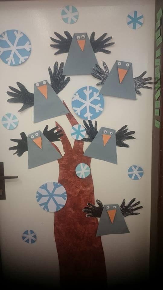 Wintervögel falten