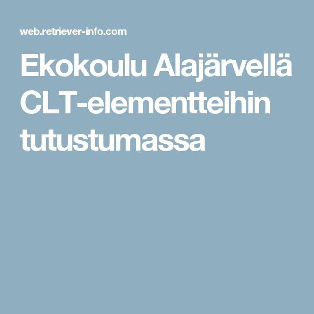 Ekokoulu Alajärvellä CLT-elementteihin tutustumassa