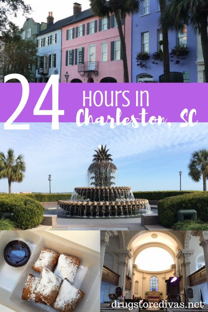 Looking for things to do in Charleston, SC? Get ideas in this 24 hours in Charleston, SC post from www.drugstoredivas.net.