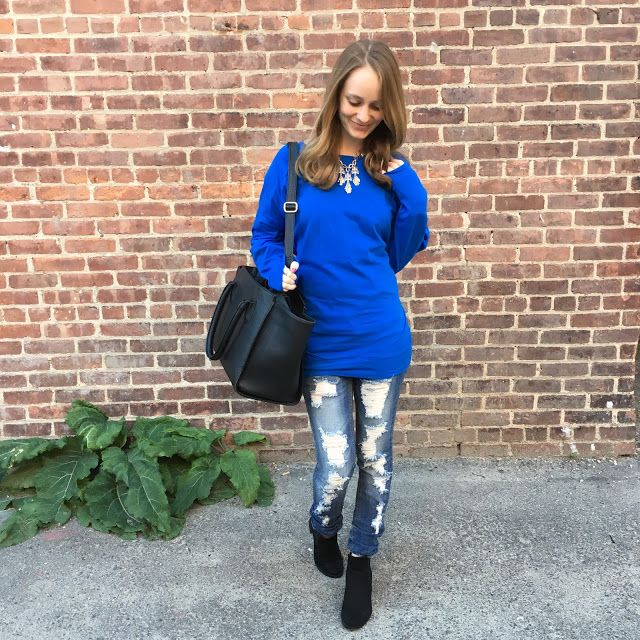 Dolman Tunic: c/o The Mint Julep Boutique  | Jeans: Indigo Rein  | Structured Bag: H&M  | Ankle Boots: H&M      *This is a sponsored post....