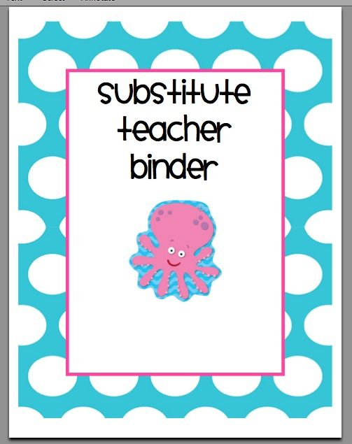 creating & teaching: substitute binder: Future Classroom, Teacher Binder Free, Lessons Plans, Free Substitute, Binder Packs, Substitute Binder, Binder Ideas, Classroom Ideas, Substitute Teacher Binder