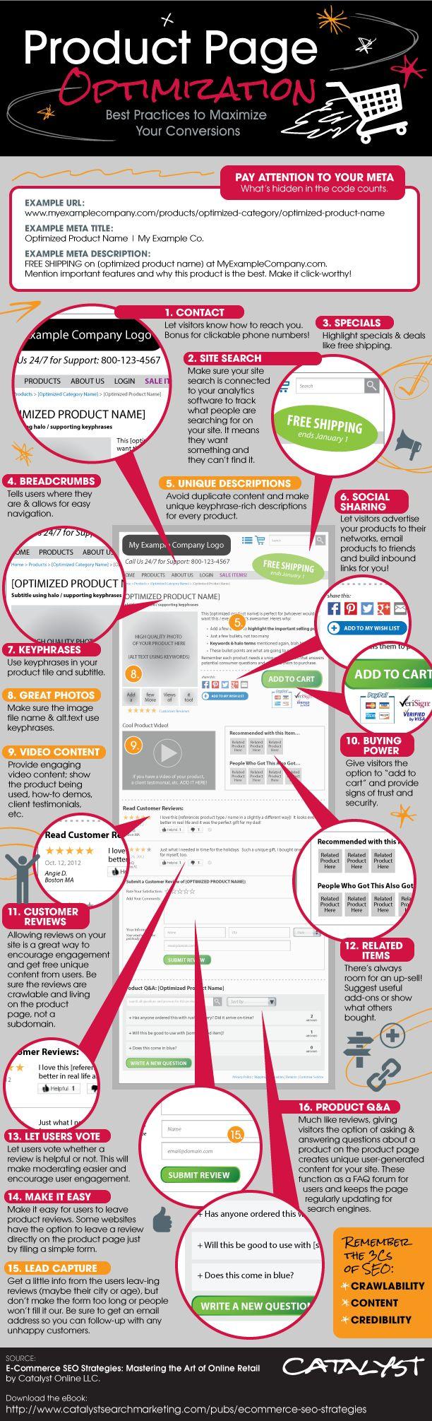 #Product Page Optimization Best Practices to Maximize Your #Conversions Optimisation des pages produits