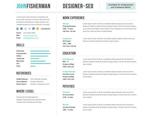 Best Resume Designs Images On   Cv Template Resume