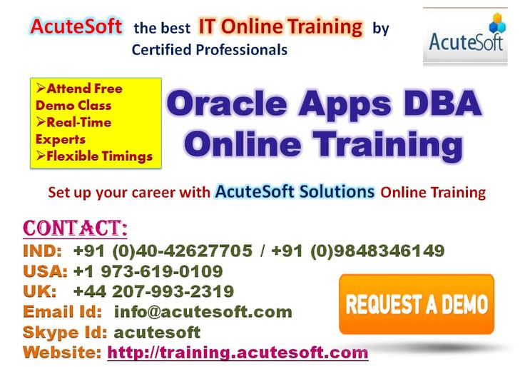 We have highly skilled trainers for Oracle DBA to offer the unique online training where we focus on the knowledge required to produce highly qualified candidates.