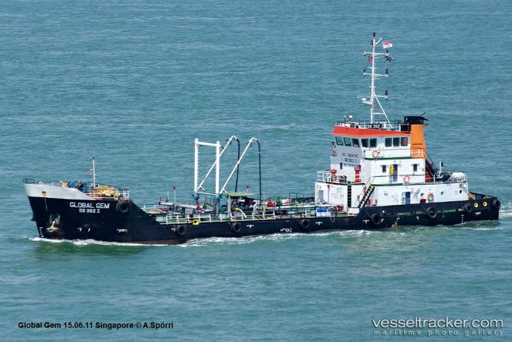 """The vessel """"Global Gem"""" (formerly known as """"Berjaya Fortune""""), is an Oil Products Tanker designed by GB Marine. Photo Copyright held by A. Sporri from www.vesseltracker.com"""