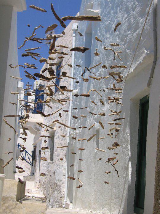 'Salty skies' in Syros, Greece