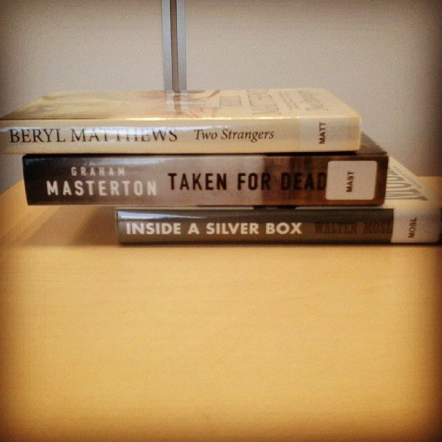 'Two strangers, taken for dead, inside a silver box' - some book spine poetry for a dreary Wednesday morning!