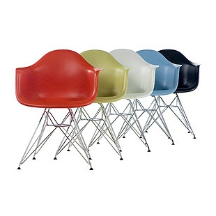 Eames® Molded Plastic Chairs.  #colorevolution