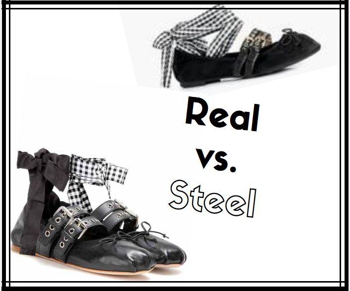 Real vs. Steel Designer Look alikes