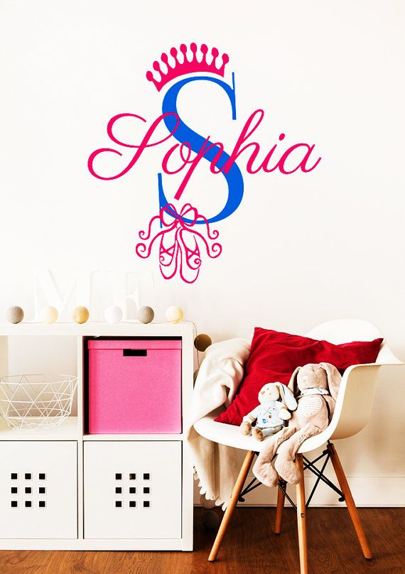 Best Name Wall Decals Images On Pinterest Name Wall Decals - Monogram vinyl wall decals for girls