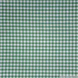 Tissu Coton Vichy 3mm Vert