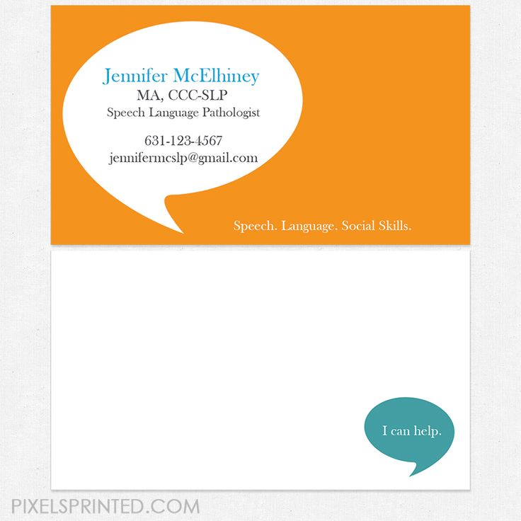Cool Speech Therapy Business Cards Gallery - Business Card Ideas ...