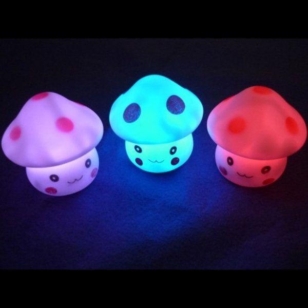 Novelty Lovely Mushroom Color Changing LED Night Light Decoration