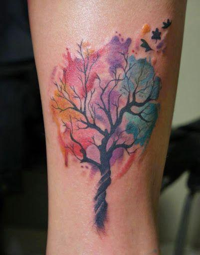 Modèle de tatouage arbre aquarelle https://tattoo.egrafla.fr/2016/02/17/modele-tatouage-arbre-vie/