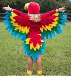 DIY  easy sewn parrot (bird) costume / Papagáj farsangi jelmez /  Mindy
