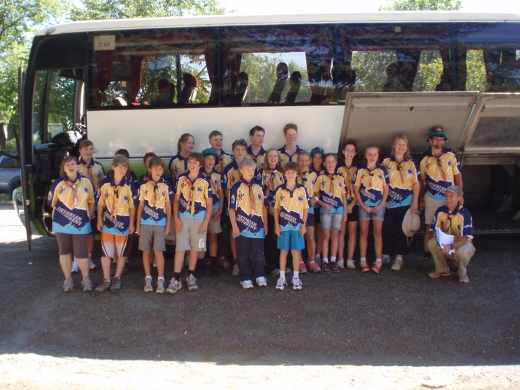 This troop is D66 ready to depart from Beechworth, North East Victoria at 10.45 am this morning
