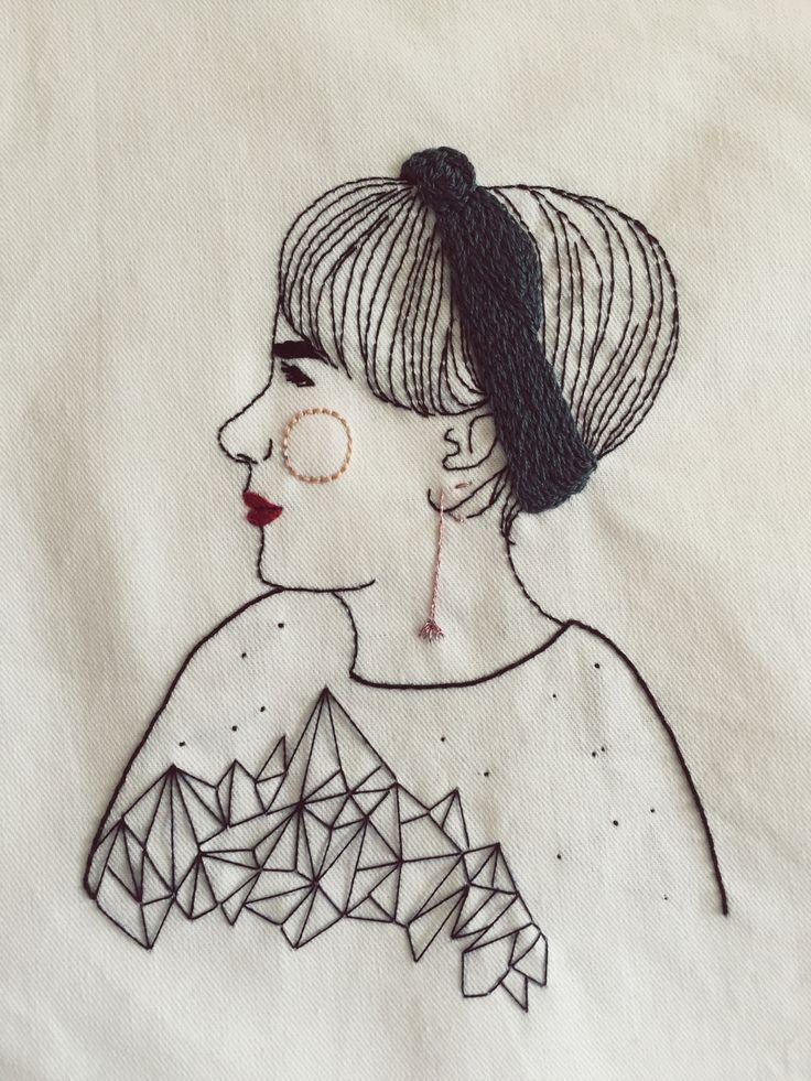 Modern embroidery by Querida Sputnik, Belô.
