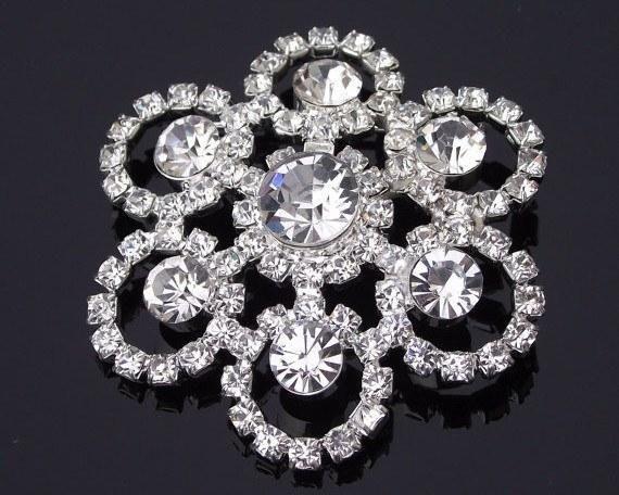 Wedding Brooches - Crystal & Rhinestone Brooch, Bridal Brooch, Milan