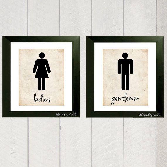 Bathroom Art Ladies And Gentlemen Print 5x7 Or 8x10 I Love Bathroom Wall And The O 39 Jays