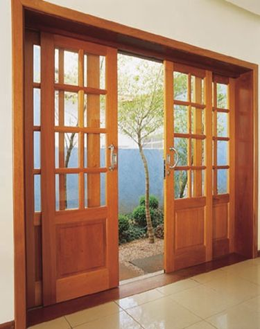 a perfect mix between french doors and sliding glass doors