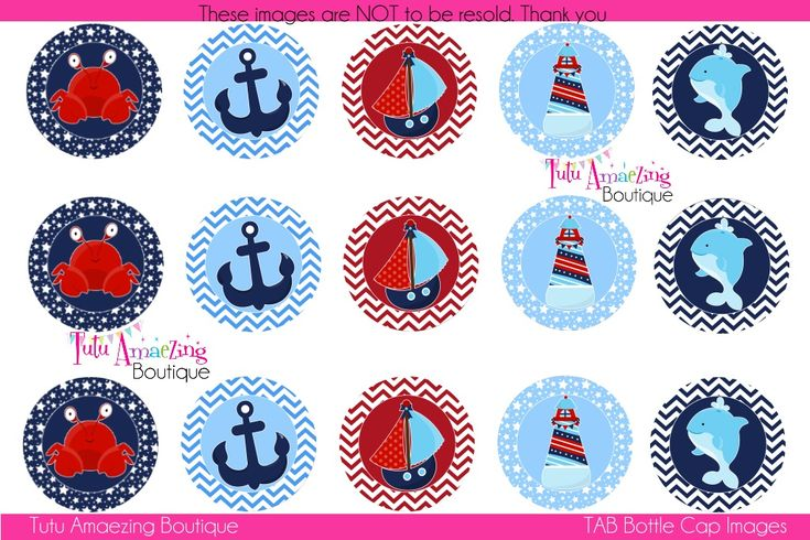 Nautical Bottle Cap Images