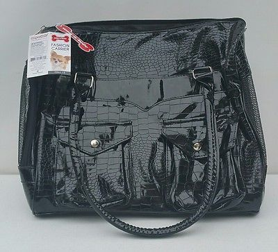 NEW  Wag-a-Tude BLACK Fashion Small Dog/Cat Pet Carrier Purse Tote Carrying Bag
