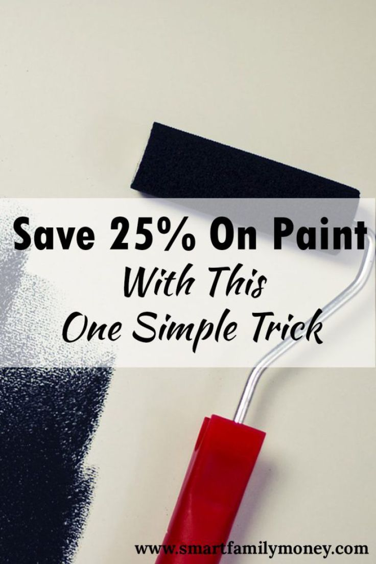 This is such a great way to save money on paint. It really helped me cut my painting costs for my house.
