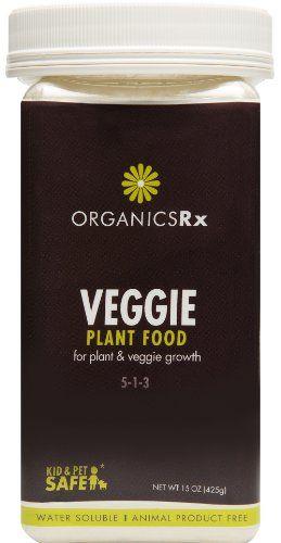 Organics Rx Vegetable Fertilizer, Vegan.