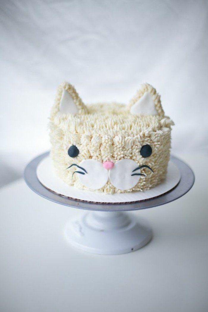 Nos gâteaux d'anniversaire enfants chouette chaton