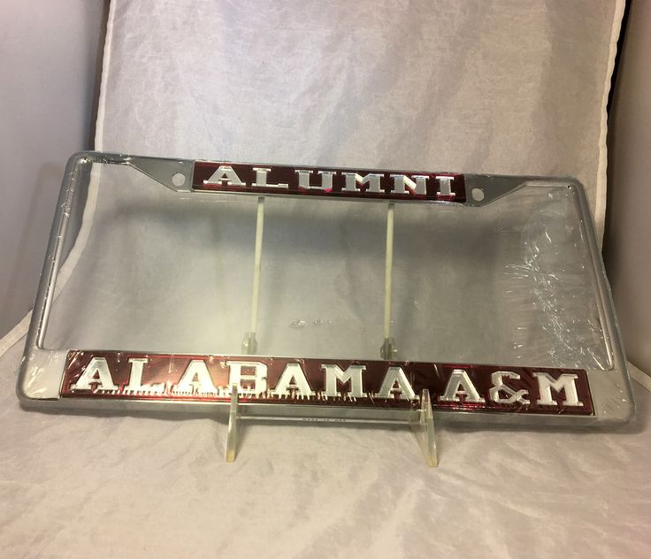 Alabama A&M Alumni Alabama A&M Maroon/Silver License Plate Frame - Brothers and Sisters' Greek Store