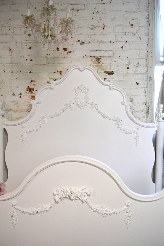 French Bed Painted Cottage Shabby Chic Deluxe by paintedcottages