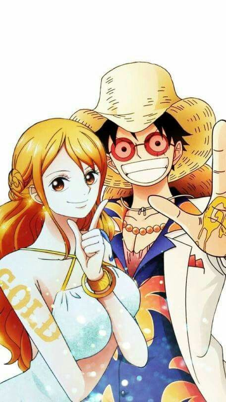 Luffy and Nami  One Piece movie:GOLD