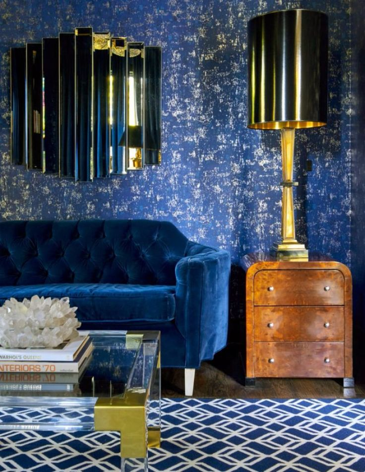 12 Incredible Blue Chesterfield Sofas That You Will Covet This Fall
