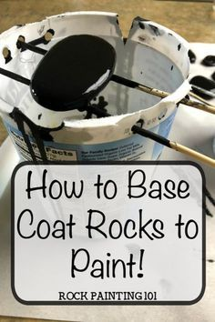 Base Coat Rocks to paint. Add a quick and inexpensive base coat to your rock painting. This method uses acrylic paint.....