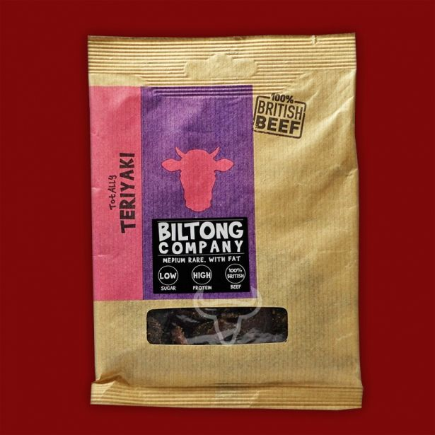 Teriyaki Biltong - 35g Bag - Made Using 100% British Grass-Fed Beef by The Chichester Biltong Company on Gourmly