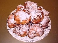 Oliebollen from The Netherlands(Holland)  A nice treat to get from a street cart in November and December.