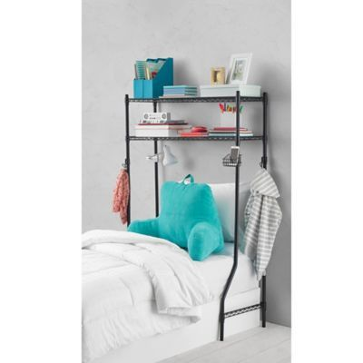image of Equip Your Space 2-Tier Dorm Space Saver in Black